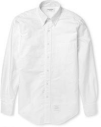 Camisa de manga larga de seersucker blanca