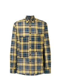 Camisa de manga larga de tartán amarilla de Lanvin