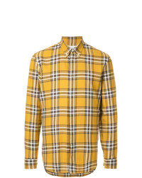 Camisa de manga larga de tartán amarilla de Maison Margiela