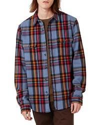 Camisa de manga larga de tartán en multicolor de Topman