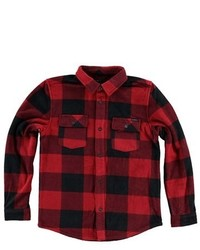 Camisa de manga larga de tartán en rojo y negro de O'Neill