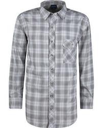Camisa de manga larga de tartán gris