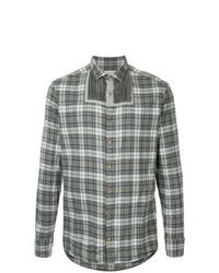 Camisa de manga larga de tartán gris de Kolor