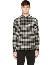 Camisa de manga larga de tartán negra de A.P.C.