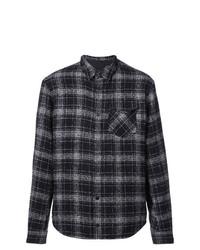 Camisa de manga larga de tartán negra de Aztech Mountain