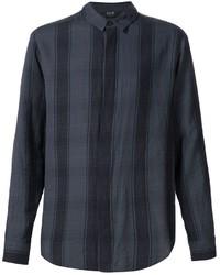 Camisa de manga larga de tartán negra de Neuw