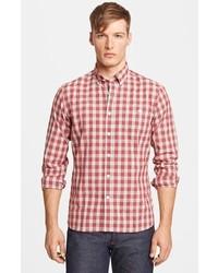 Camisa de manga larga de tartán roja de Todd Snyder