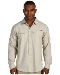 Camisa de manga larga en beige