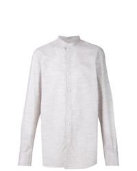 Camisa de manga larga en beige de Ermenegildo Zegna