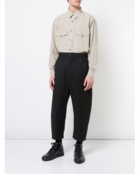 Camisa de manga larga en beige de Julien David
