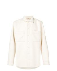 Camisa de manga larga en beige de Maison Flaneur