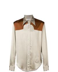 Camisa de manga larga en beige de Maison Margiela