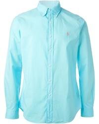 Camisa de manga larga en turquesa