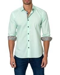 Camisa de manga larga en verde menta de Jared Lang