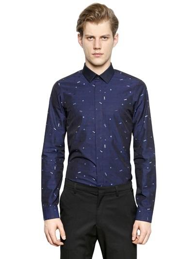 505bff6b07 Camisa de manga larga estampada azul marino de Kenzo, $310 ...