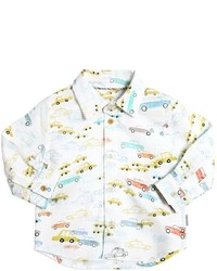 Camisa de manga larga estampada blanca de Paul Smith