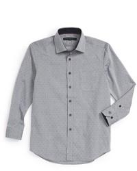 Camisa de manga larga estampada celeste de Report Collection
