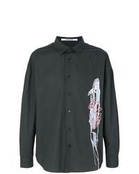 Camisa de manga larga estampada negra de Chalayan