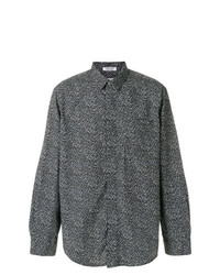 Camisa de manga larga estampada negra de Engineered Garments