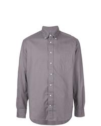 Camisa de manga larga gris de Gitman Vintage