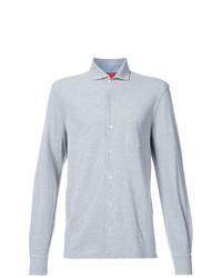 Camisa de manga larga gris de Isaia