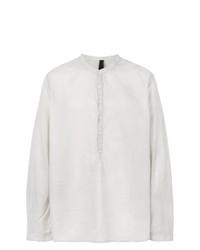 Camisa de manga larga gris de Poème Bohémien