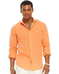 Camisa de manga larga naranja