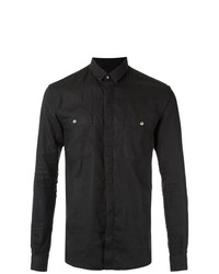 Camisa de manga larga negra de À La Garçonne