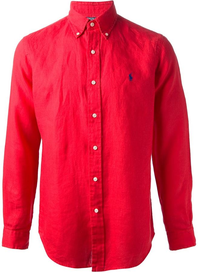 Camisa de Manga Larga Roja de Polo Ralph Lauren  dónde comprar y ... c3cf04a505a08