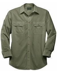 Camisa de Manga Larga Verde Oliva