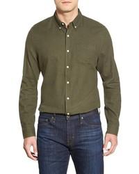 Camisa de Manga Larga Verde Oliva de AG Jeans