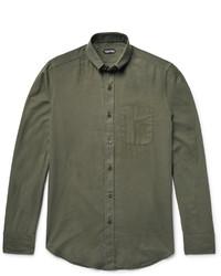 Camisa de Manga Larga Verde Oliva de Tom Ford