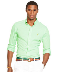 Camisa de manga larga verde
