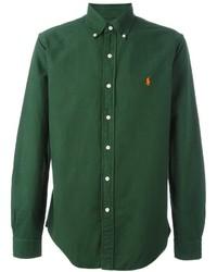 Camisa de manga larga verde oscuro