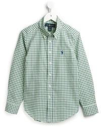 Camisa de manga larga verde de Ralph Lauren