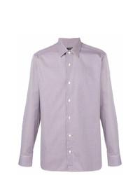 Camisa de manga larga violeta claro de Z Zegna