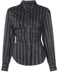 Camisa de rayas verticales negra de Isabel Marant