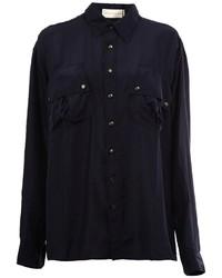 Camisa de seda azul marino de Faith Connexion