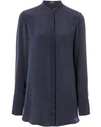 Camisa de seda azul marino de Joseph