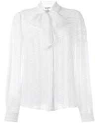 Camisa de seda blanca de Oscar de la Renta