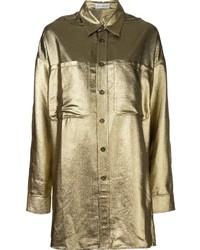 Camisa de seda dorada de Faith Connexion