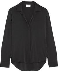 Camisa de seda negra de DKNY