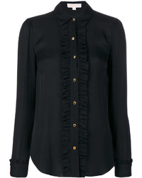 Camisa de seda negra de MICHAEL Michael Kors