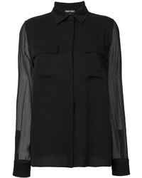 Camisa de seda negra de Tom Ford