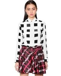 Camisa de vestir a cuadros en blanco y negro de Kenzo