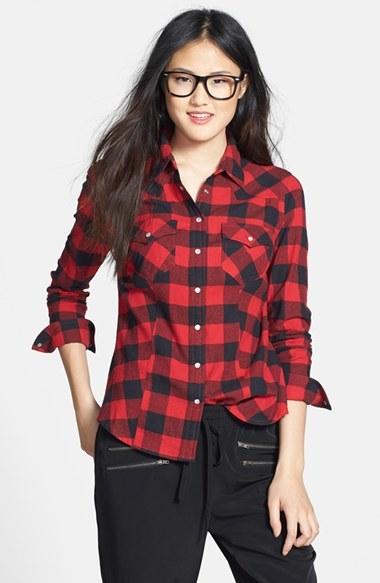 ce034621c ... Camisa de vestir a cuadros en rojo y negro de Sandra Ingrish ...