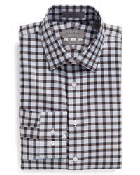 Camisa de vestir a cuadros marrón de John W. Nordstrom
