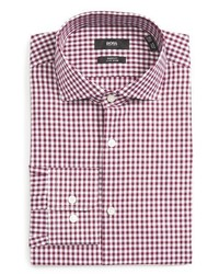 Camisa de vestir a cuadros violeta claro de BOSS