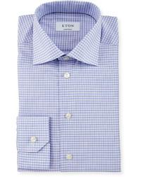Camisa de vestir a cuadros violeta claro de Eton