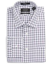 Camisa de vestir a cuadros violeta claro de Nordstrom